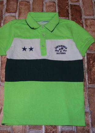 Стильная футболка мальчику поло 8 лет mayoral