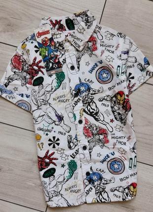 Рубашка marvel для мальчика