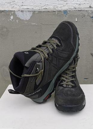 Кожаные зимние ботинки salomon evasion 2 mid ltr gtx 44 р. оригинал