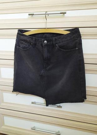 Ассиметрична джинсова спідниця
