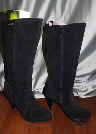 ... Замшеві весняні жіночі чоботи. виготовлені в іспанії.3 ... d07456e934a5f