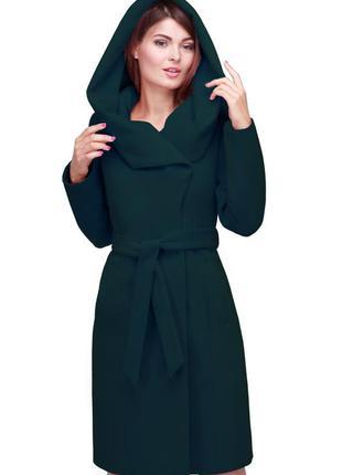 Изумрудное кашемировое новое пальто 46 размера