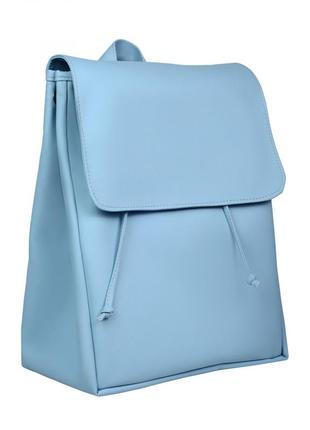 Рокзак голубого цвета блакитний рюкзачок