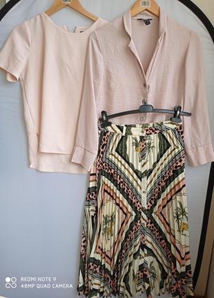 Комплект юбка плиссе пиджак