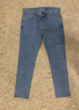Мужские светлые синие джинсы h&m slim