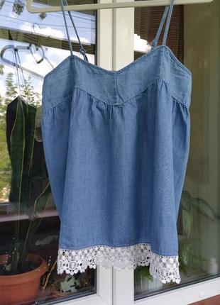 Элегантнная джинсовая майка