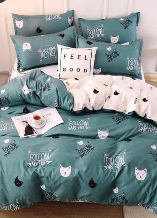 Комплект постельного белья котики мяу