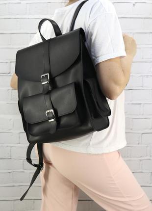 Рюкзак женский graf черный из эко кожи