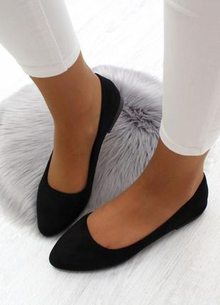 Балетки, балетки женские, чёрные балетки, туфли, туфли женские