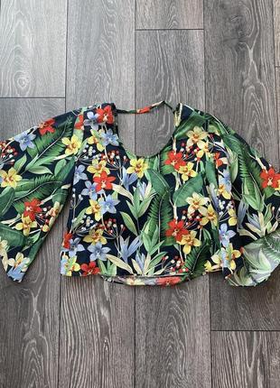 Блуза в цветы zara