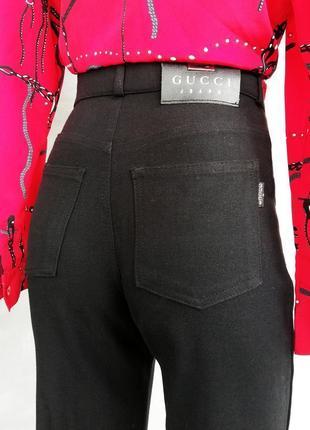 Черные брюки штаны gucci , классика / высокая посадка gucci