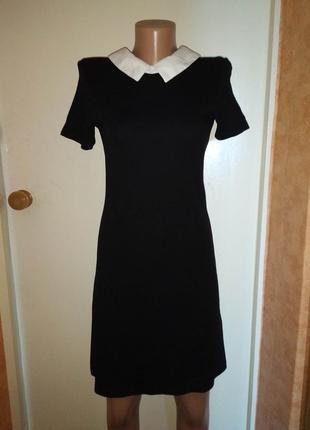 Женское фирменное платье с белым воротником cropp
