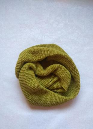 Шерстяной вязаный хомут,шарф вязка,теплый хамут,шарфик