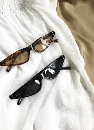 Тигровые леопардовые узкие очки кошачий глаз 2020 женские ретро стильные имиджевые