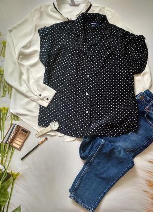 Рубашка блуза блузка в горошок