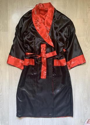 Халат кимоно двусторонний с вышивкой