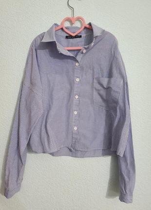 Рубашка в полоску оверсайс