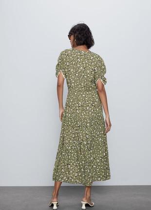 Zara платье в цветочный принт, xs5 фото
