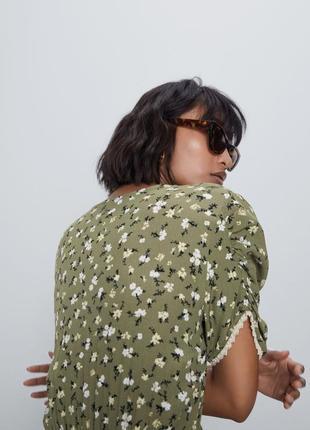Zara платье в цветочный принт, xs6 фото