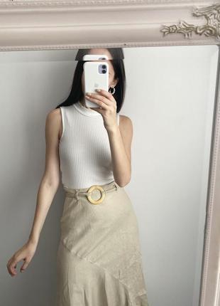 Льняная юбка-миди