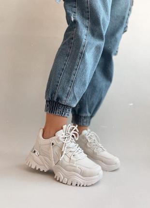 Новинка!!!кроссовки stark белые на массивной подошве