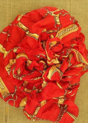 Шелковый платок в стиле gucci