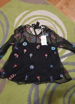 Сетка блузка