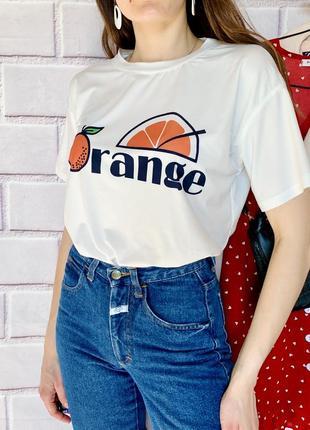 Нова футболка апельсин