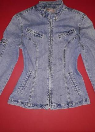 Куртка пиджак джинсовая на молнии
