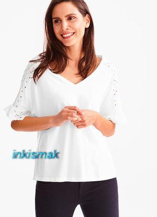 Блуза футболка модал ажурные вставки c&a германия