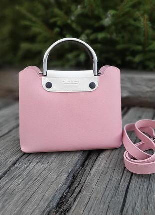 Стильная сумочка - клатч цвета светлая пудра