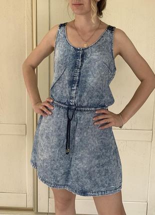 Джинсовое платье, платье из денима