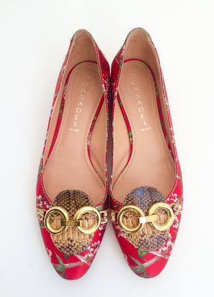 Casadei балетки оригинал кожа питона италия размер 9 (39) в идеальном состоянии как новые