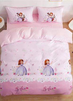 Детский полуторный постельный комплект принцесса софия