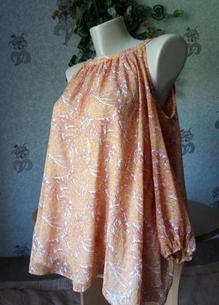 Блузочка в оранжевых тонах
