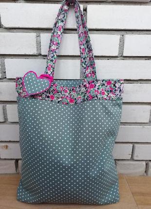 Красива оригінальна двохстороння сумка шоппер!!!