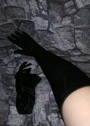 Длинные перчатки выше локты avant-premiere