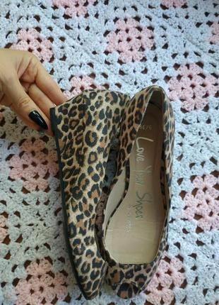 Удобные женские туфли с открытым носком george
