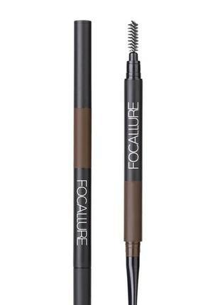 Карандаш для бровей focallure 3 в 1, мега качество