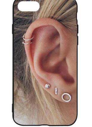 Чехол на телефон ушко пирсинг piercing