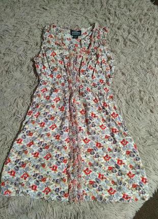 Летнее короткое платье приятная ткань 👍-m