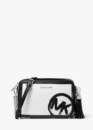 Лимит сумка michael kors ginny medium brushstroke logo джинни майкл корс кроссбоди