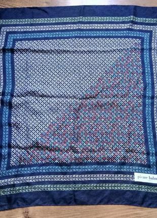 Винтажный шелковый платок pierre balmain paris original