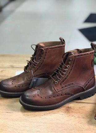 Оригинал брогги оксфорды туфли clarks 40р 25см