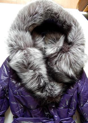 Кожаное пальто-куртка зима