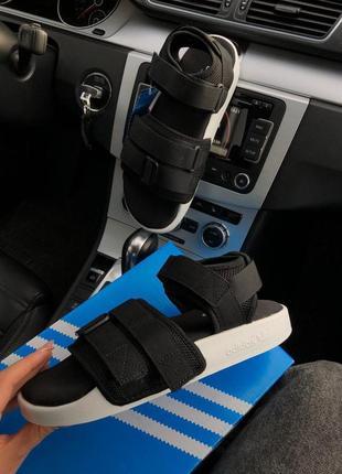 Женские сандалии adidas adilette 2.0 sandal черно белые в сеточку