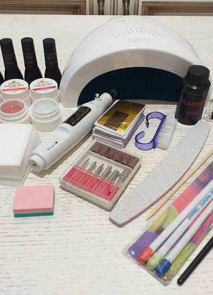 Набор для покрытия ногтей гель лаком и гелям