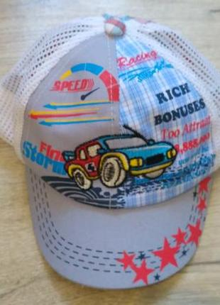 Новая кепка бейсболка для мальчика 1-2 года объем 47-50см хлопчика