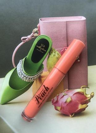Блеск для губ too faced sweet peach oil lip gloss