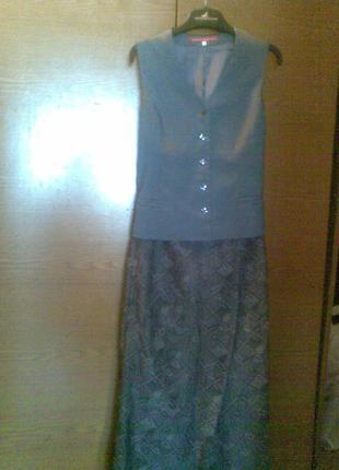 Костюм (жилет+юбка)